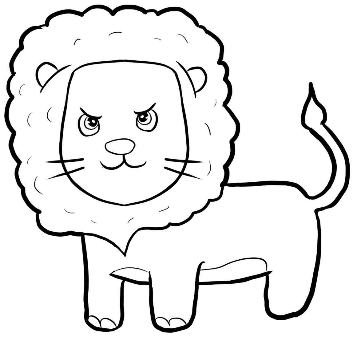 Desenho de leão para pintar