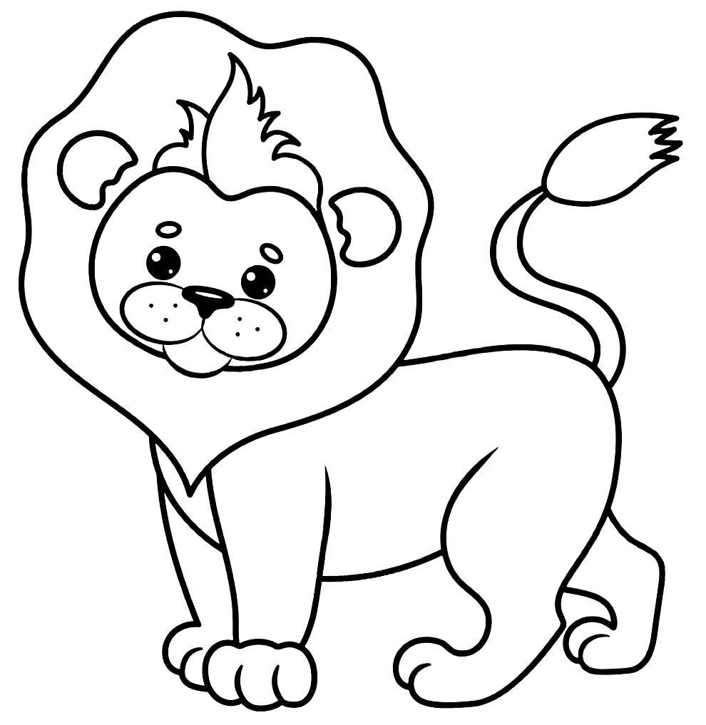 Imagem de leão para colorir