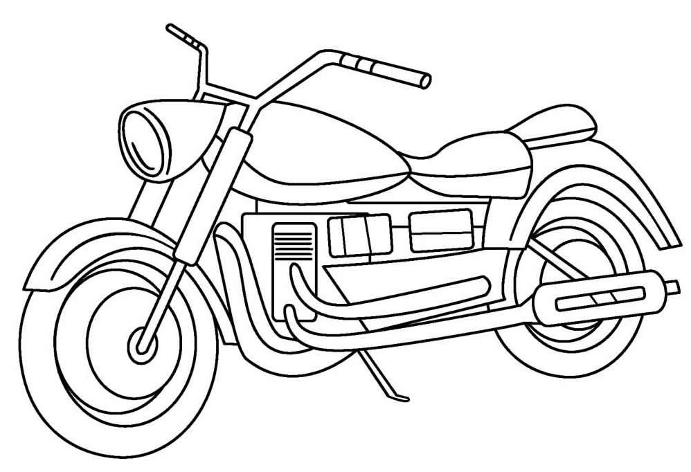 Desenho de moto para pintar