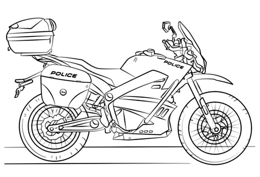 Imagem de moto para pintar