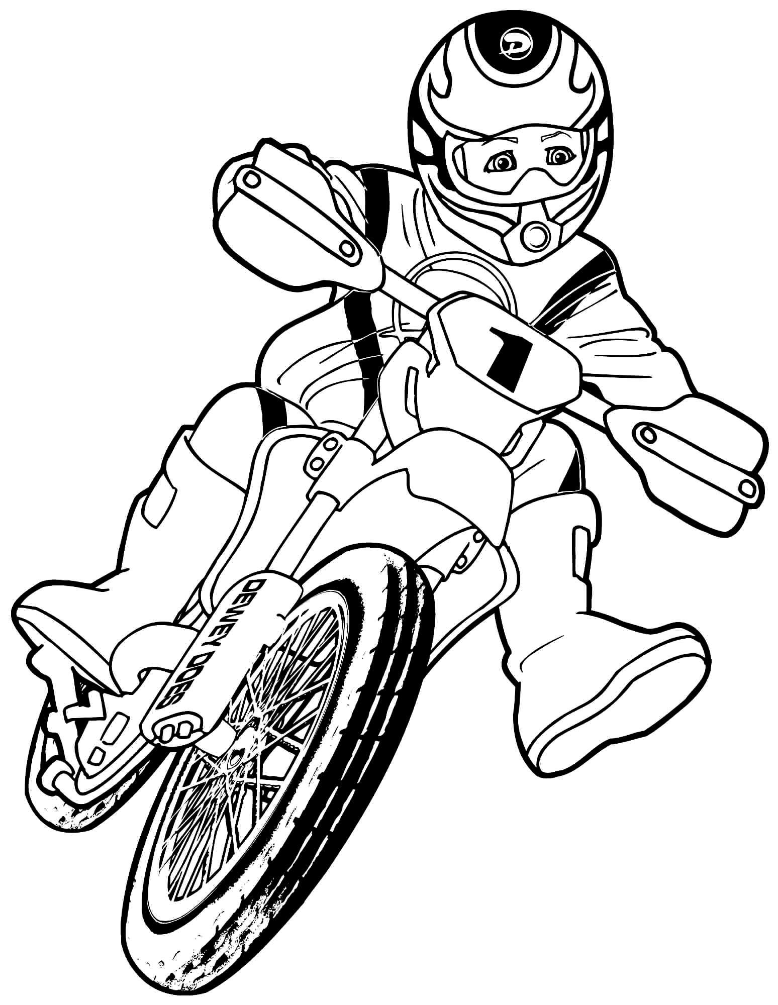 Imagem de moto para colorir
