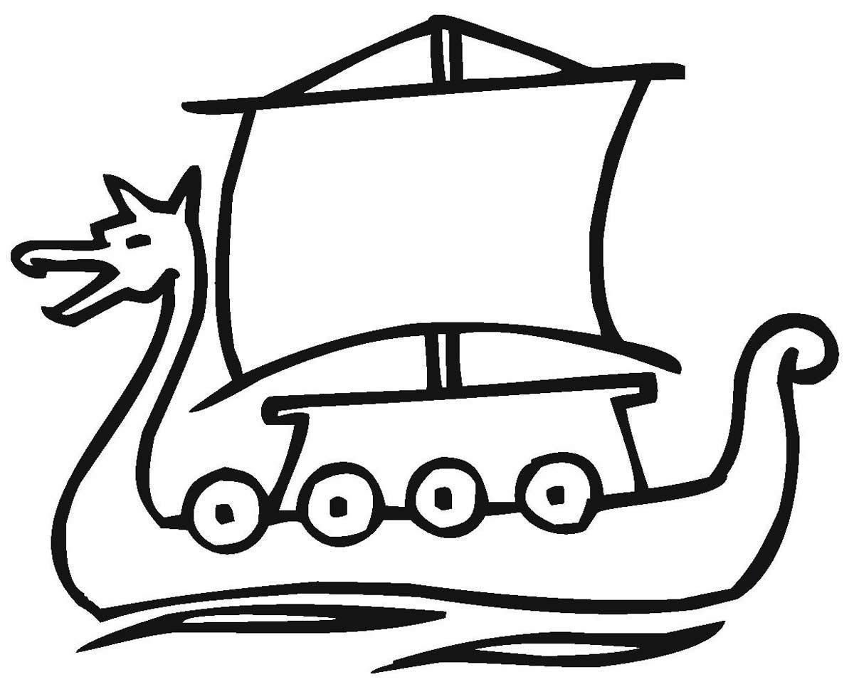 Desenho de navio para pintar