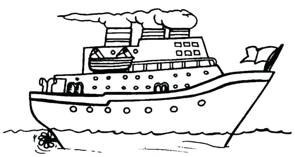 Desenho de navio para colorir