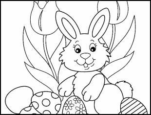 Desenhos de Páscoa para colorir e imprimir