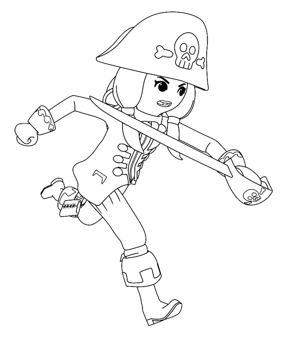 Imagem de Playmobil para colorir