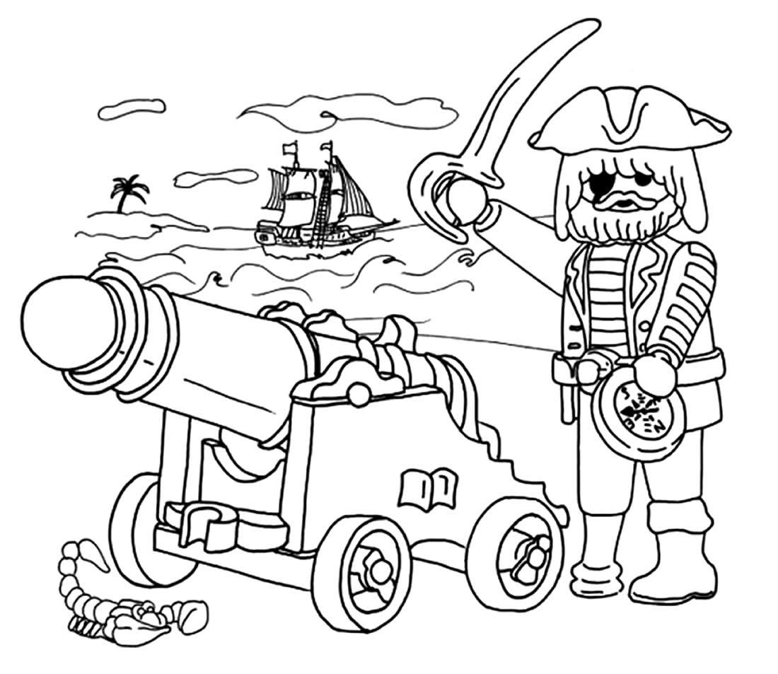 Desenhos de Playmobil para colorir