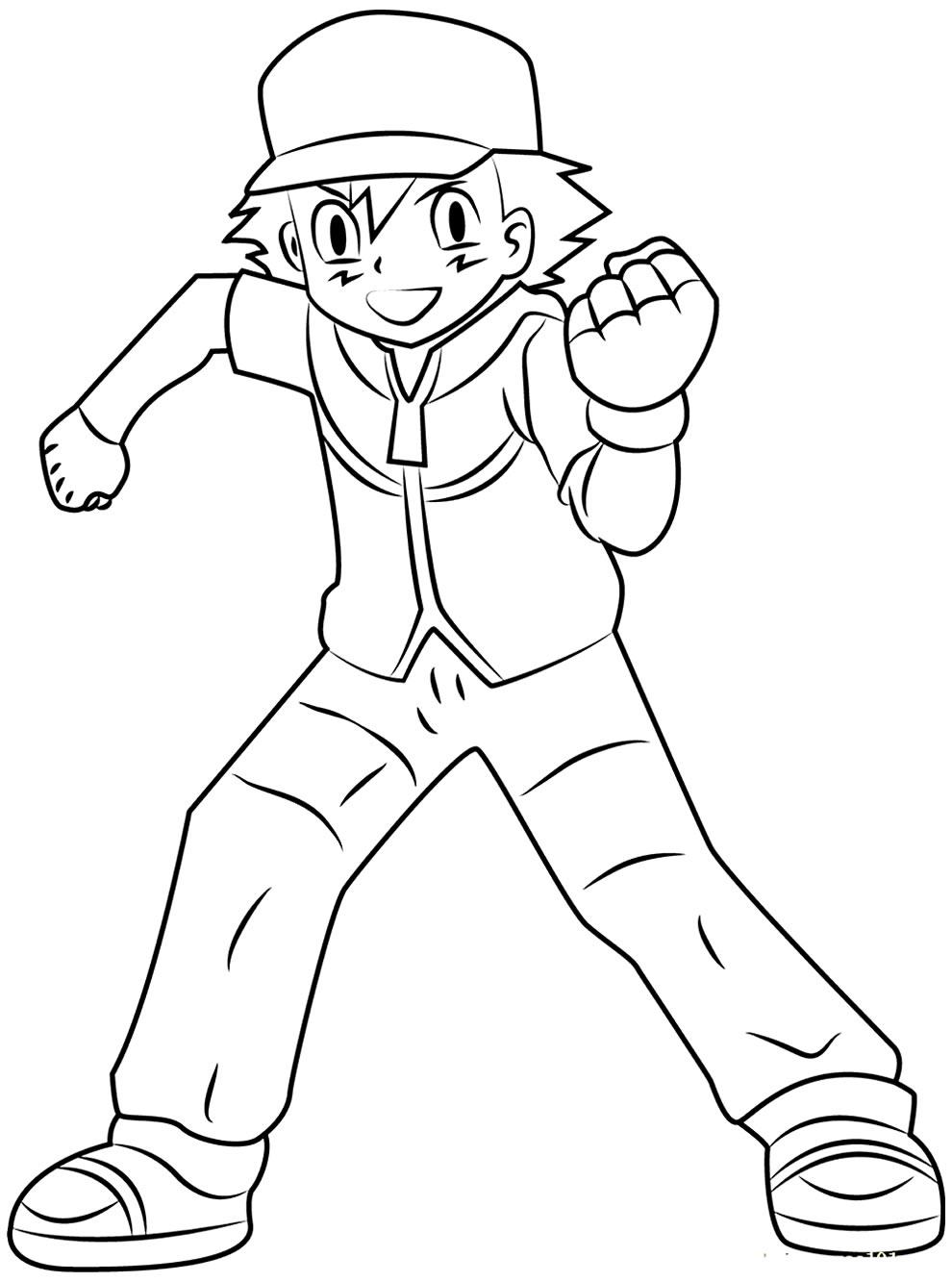 Desenho de Ash para colorir