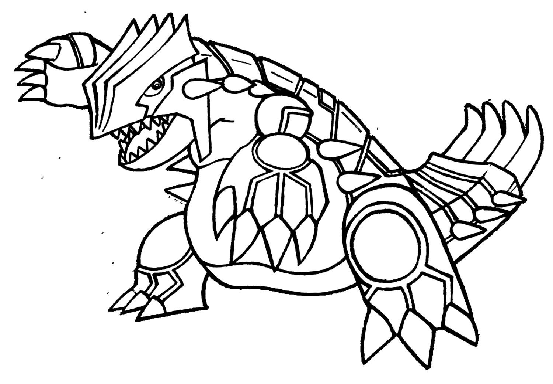 Desenho de Pokemon para pintar