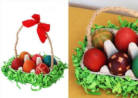 Lembrancinha de Páscoa com caixa de ovos
