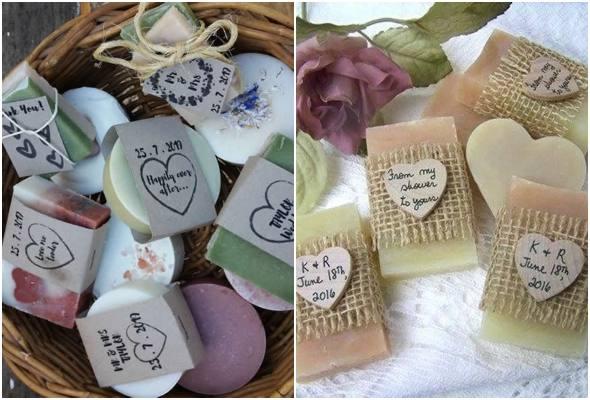 Sabonetes para lembrancinhas de chá de bebê