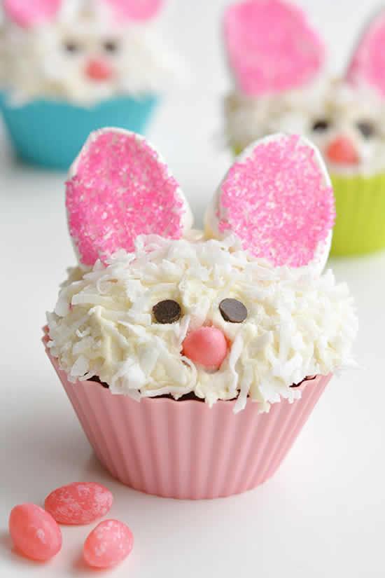 Lindos cupcakes de coelhinhos