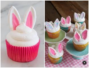 Cupcakes de coelhinhos para Páscoa