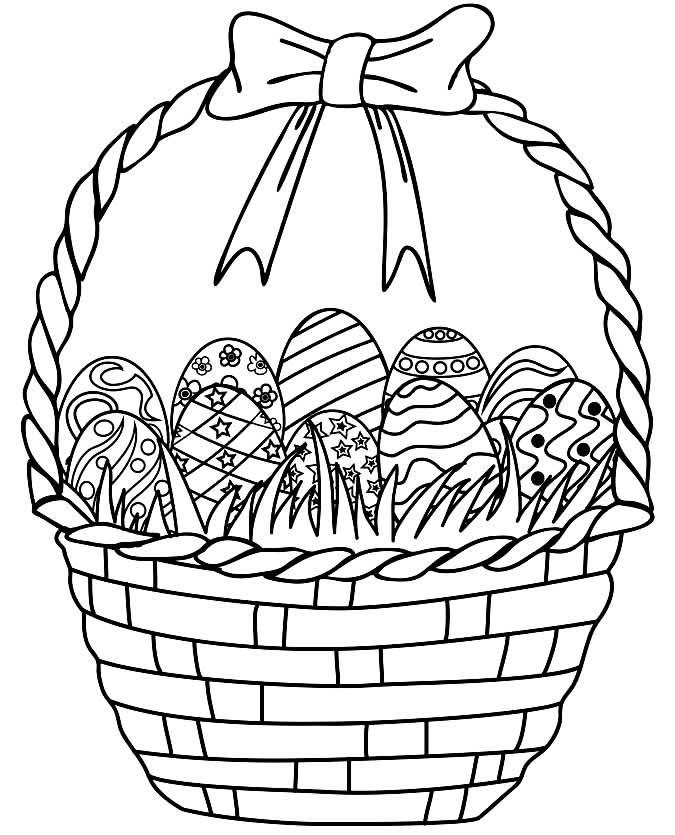 Desenhos de cestas para pintar