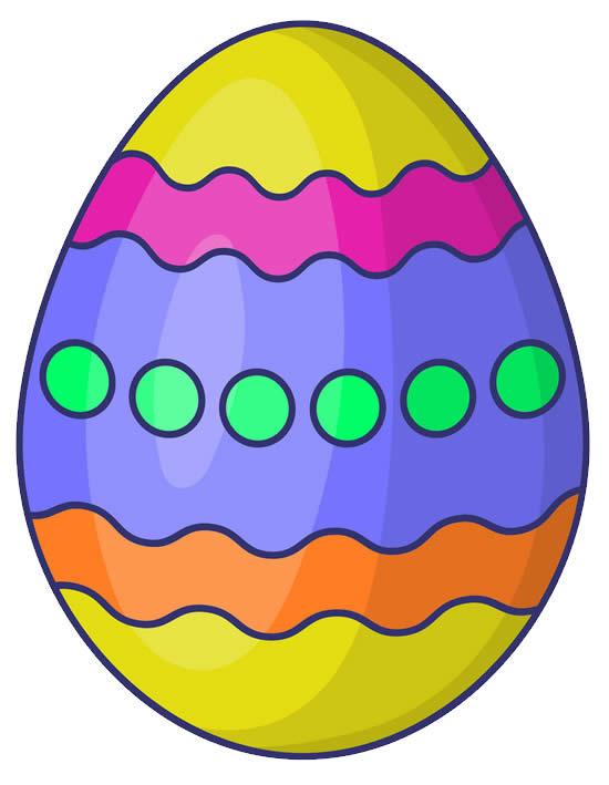 Molde Colorido de Ovo de Páscoa