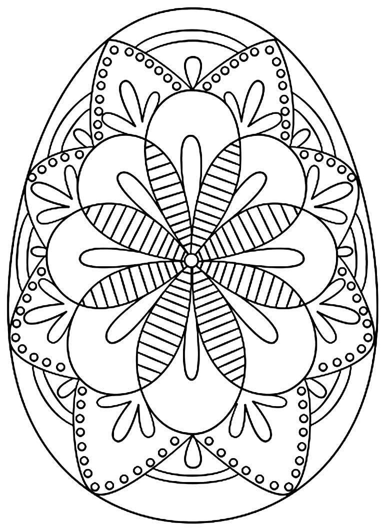 Desenho de Ovo de Páscoa para colorir