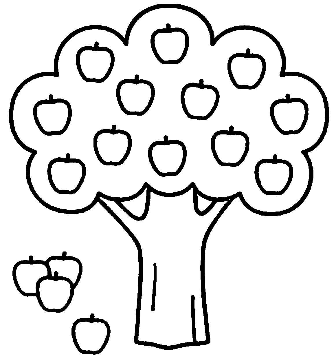 Desenho de árvore para pintar