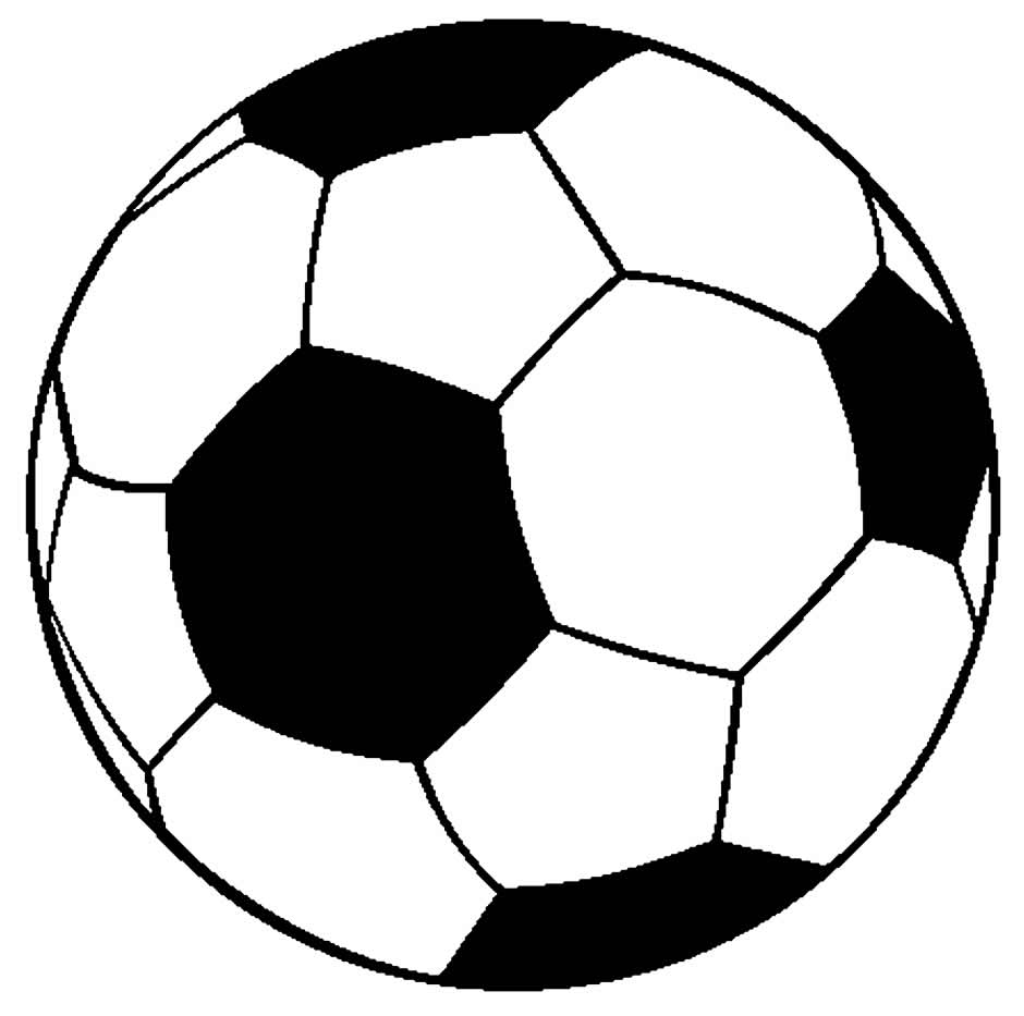 Desenhos de bola para pintar
