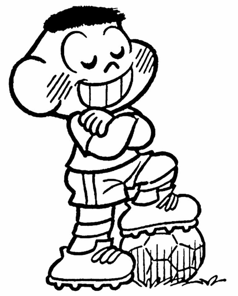 Imagem de Cascão para colorir