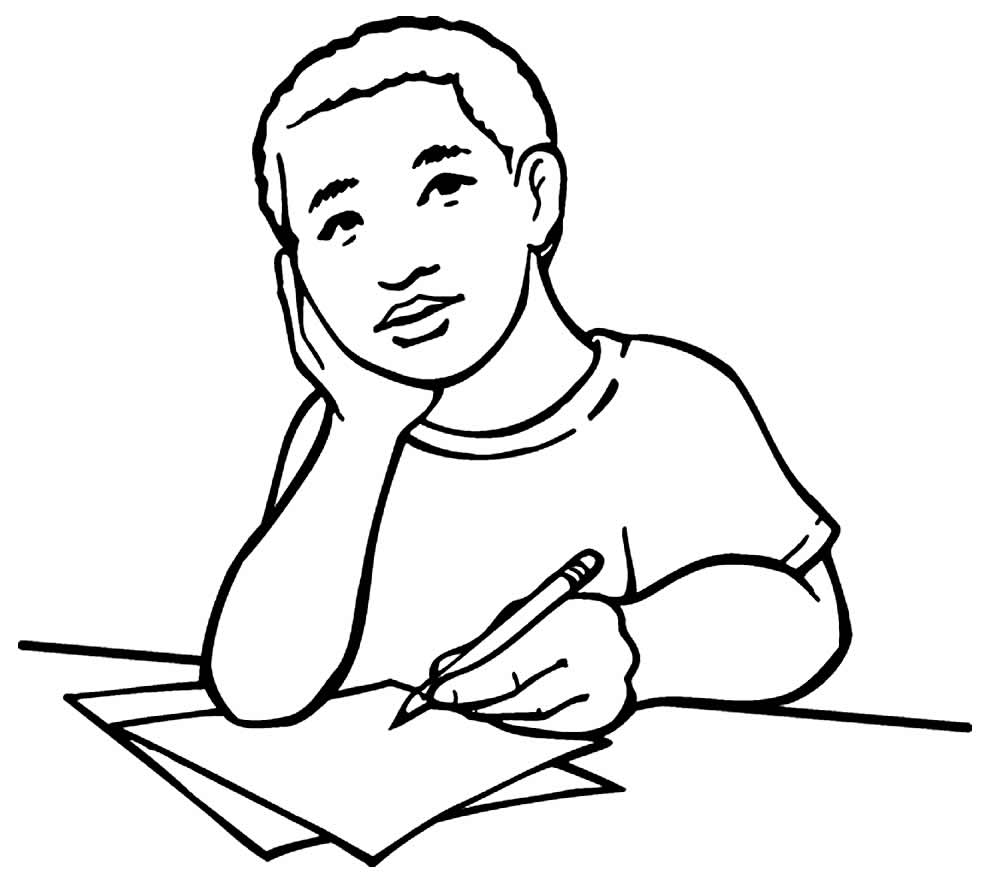 Imagem de estudante para pintar