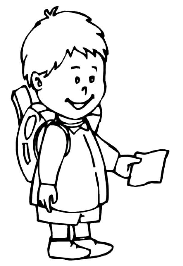 Desenho de estudante para pintar