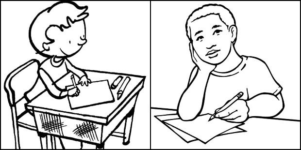 Desenhos de alunos para imprimir e colorir