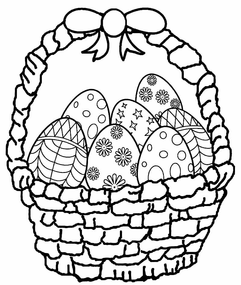 Desenhos lindos para colorir de Ovos de Páscoa