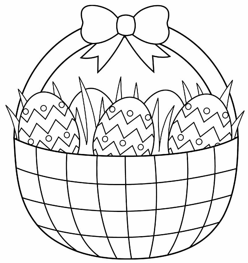 Desenhos de Ovos de Páscoa para pintar