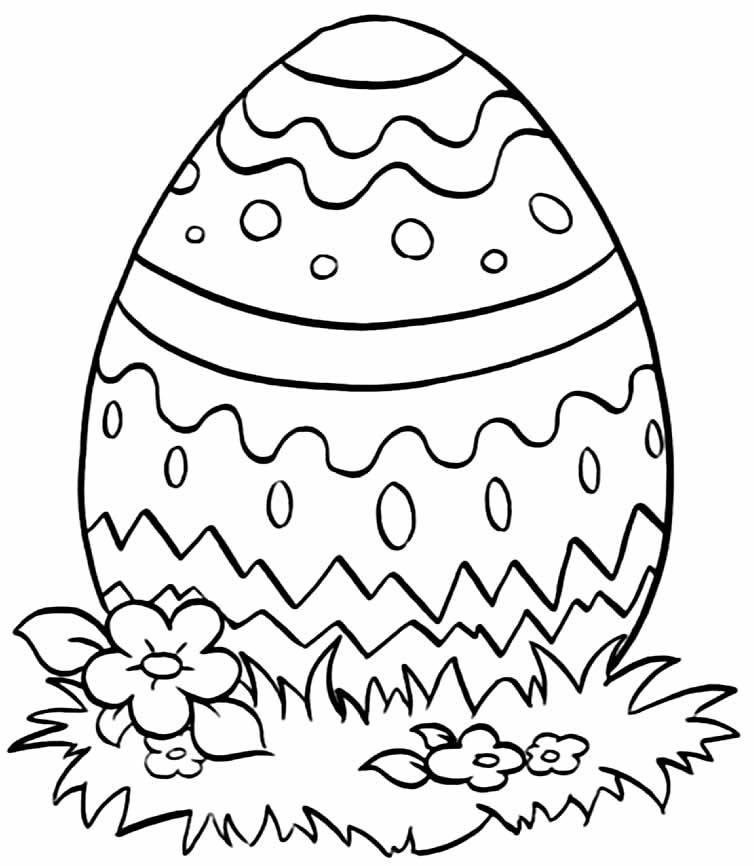 Imagens para colorir de Ovos de Páscoa