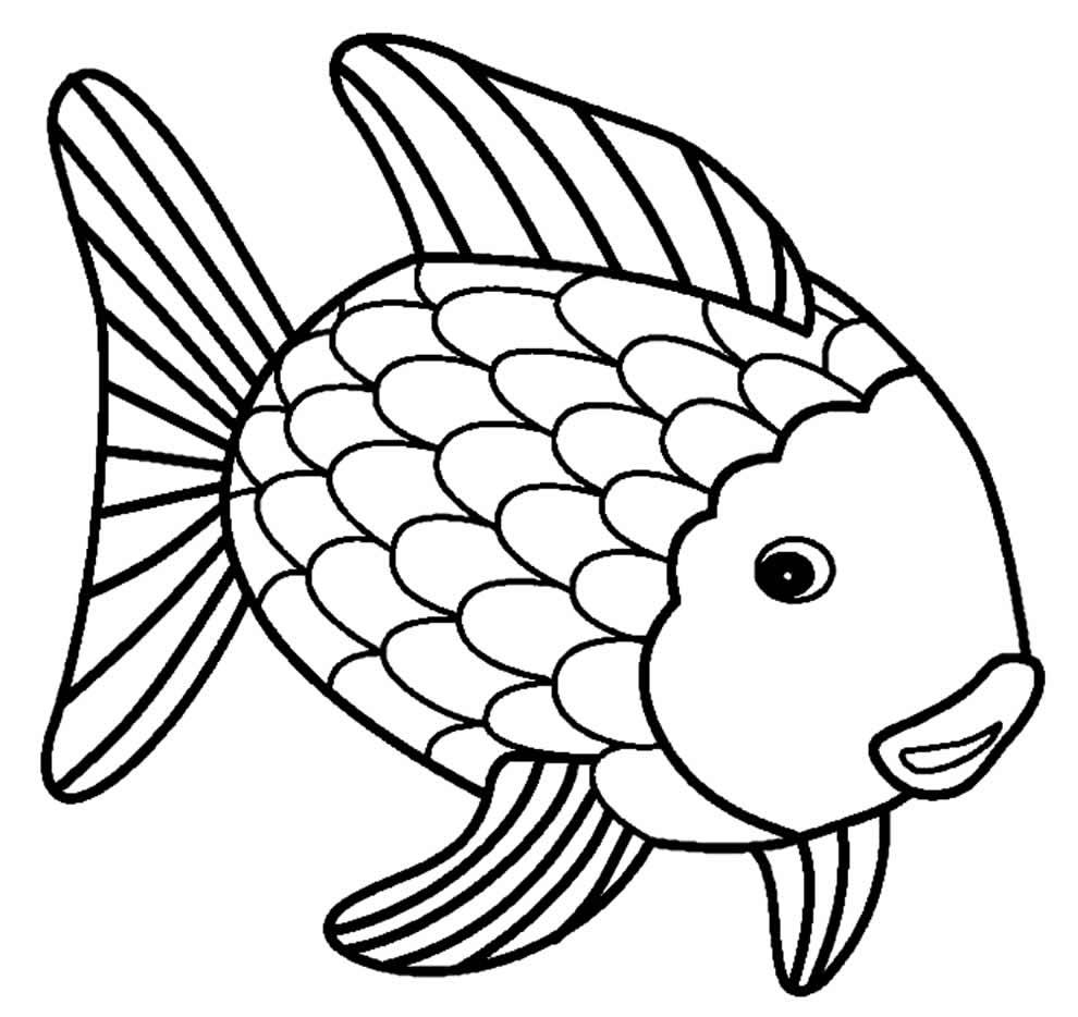 Imagem de peixe para pintar