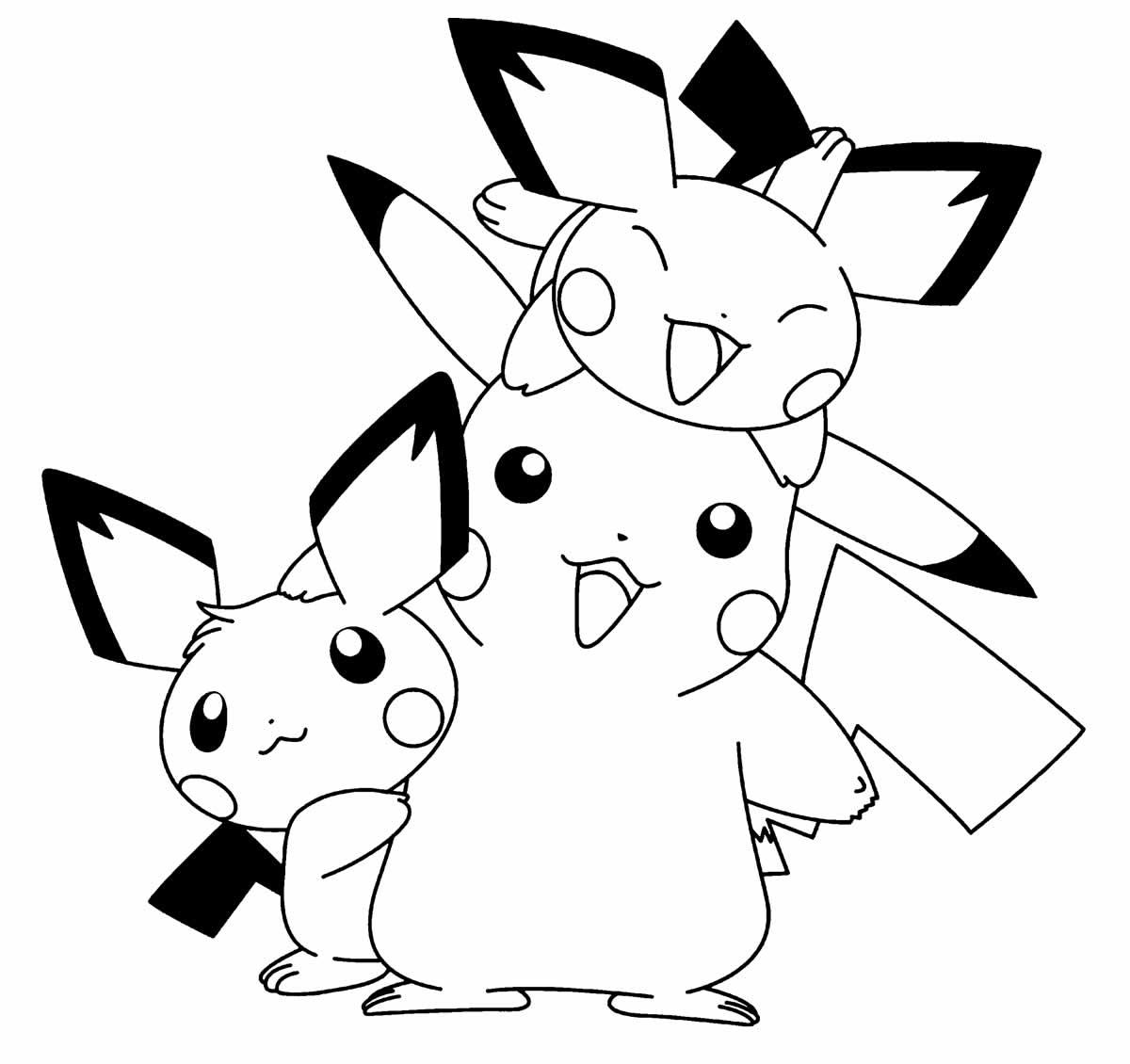 Molde de Pikachu para pintar