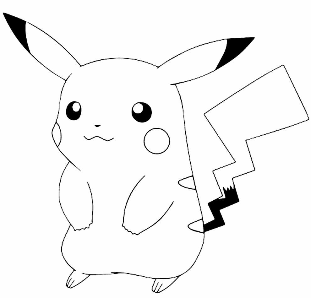 Molde de Pikachu para recortar
