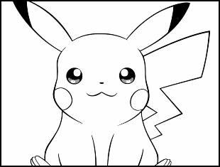 Desenhos de Pikachu para colorir