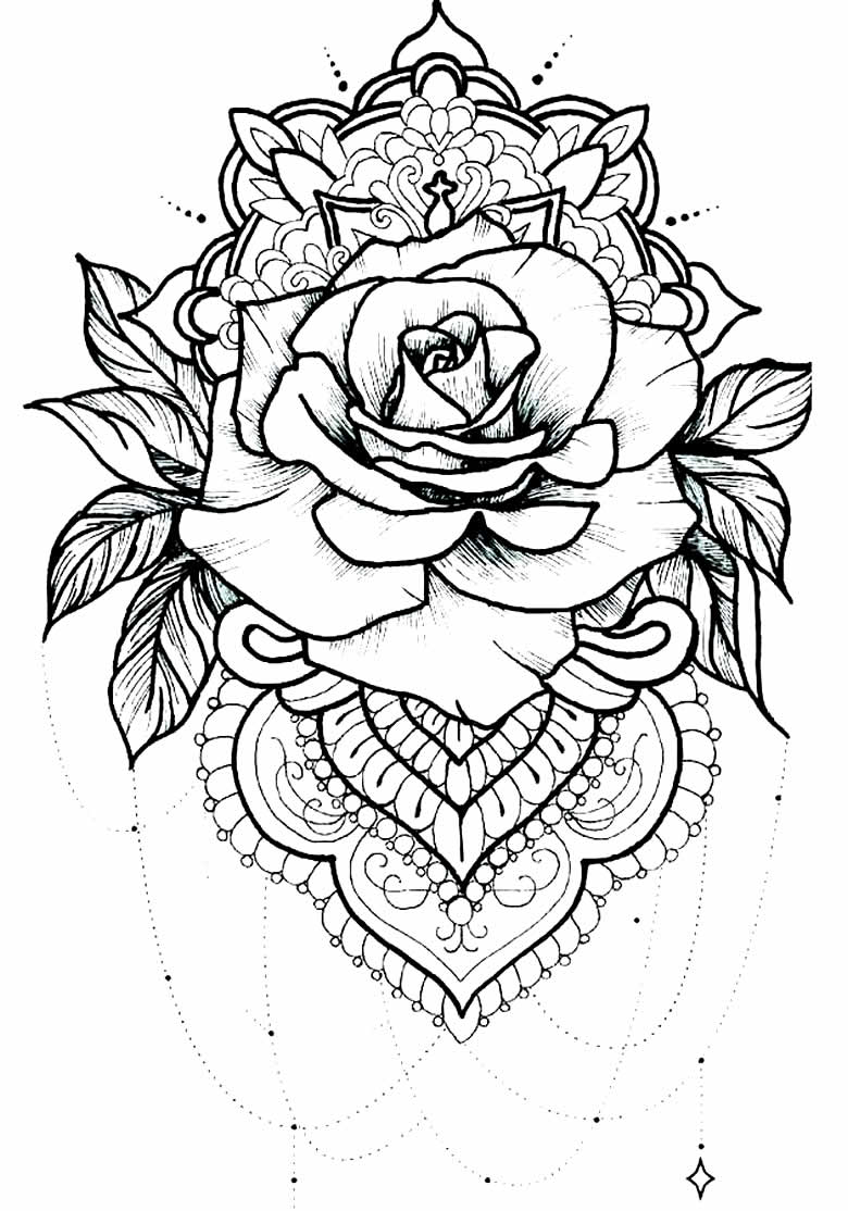 Imagem de rosa para pintar