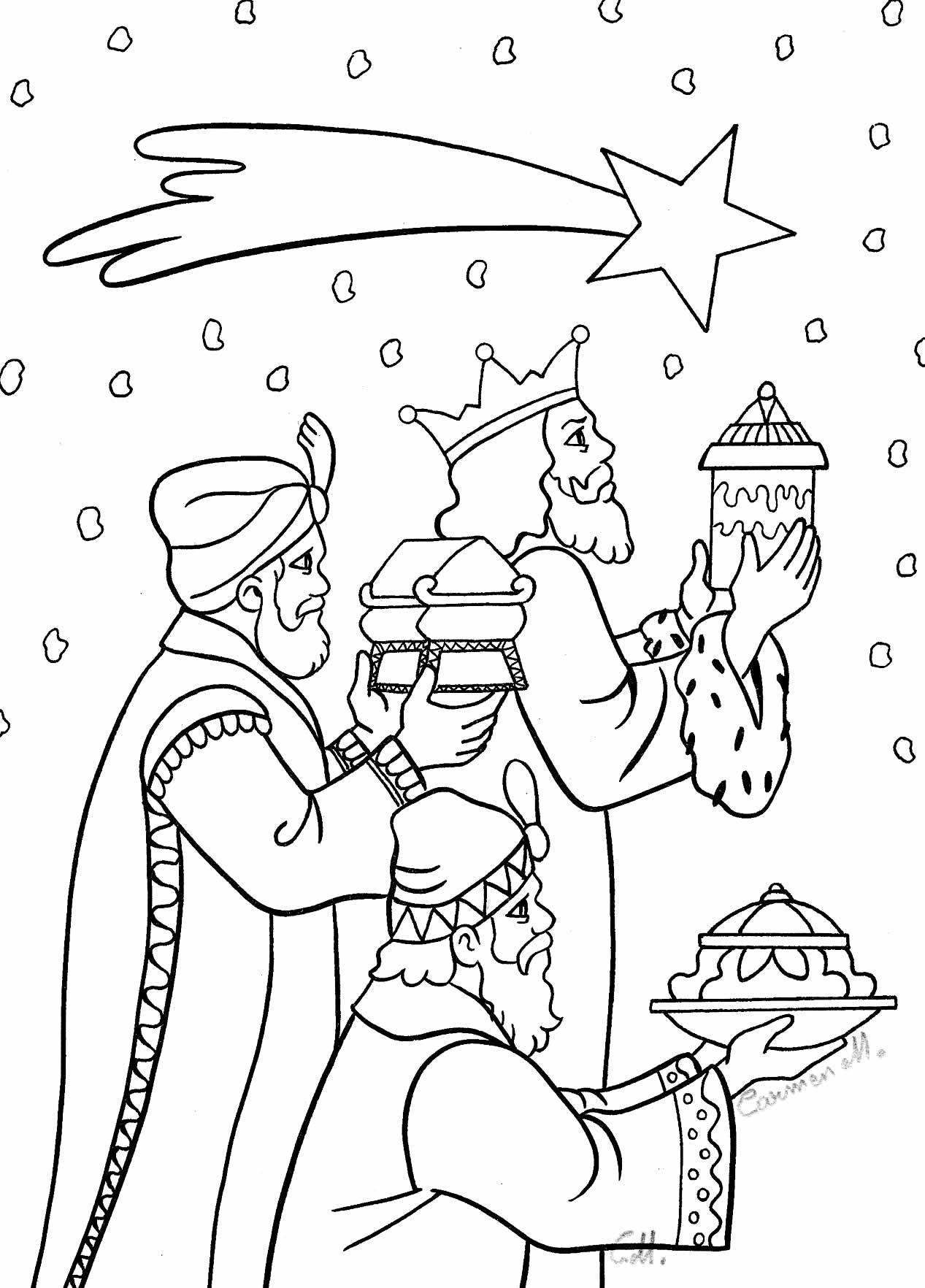 Desenho do Nascimento de Jesus para pintar