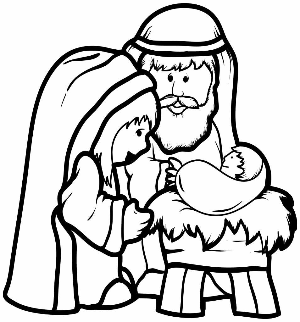 Imagens do Nascimento de Jesus para pintar