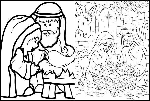 Desenhos Do Nascimento De Jesus Para Colorir Pop Lembrancinhas