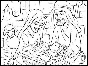 Desenhos do Nascimento de Jesus para colorir