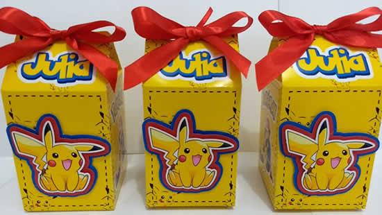Caixinha para Festa Pikachu