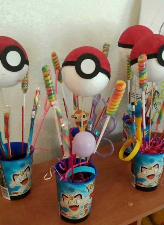 Lembrancinhas lindas para Festa Pokemon