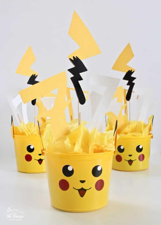 Lembrancinhas lindas para Festa Pikachu