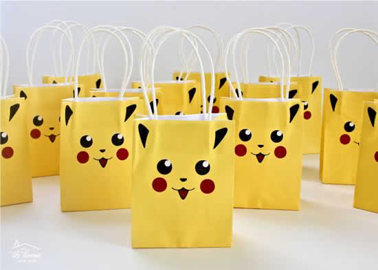 Sacolinha para Festa Pikachu