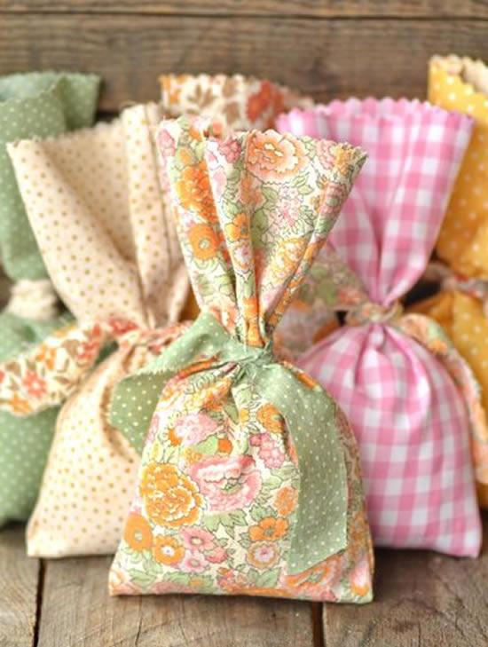 Sacolinha de tecido para Páscoa