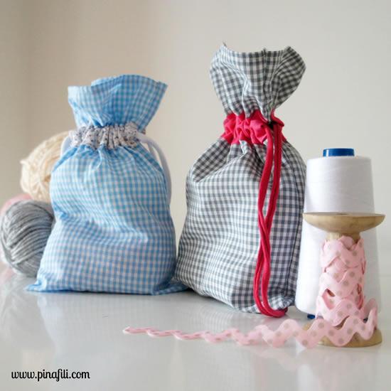 Sacolinhas de tecido para Páscoa