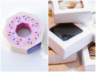 Caixinhas de doces com moldes para Páscoa
