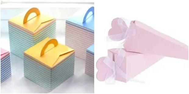 Caixinhas simples para lembrancinhas com moldes