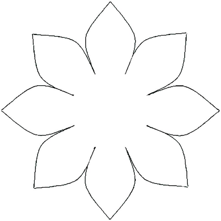 Molde de flor para decoração