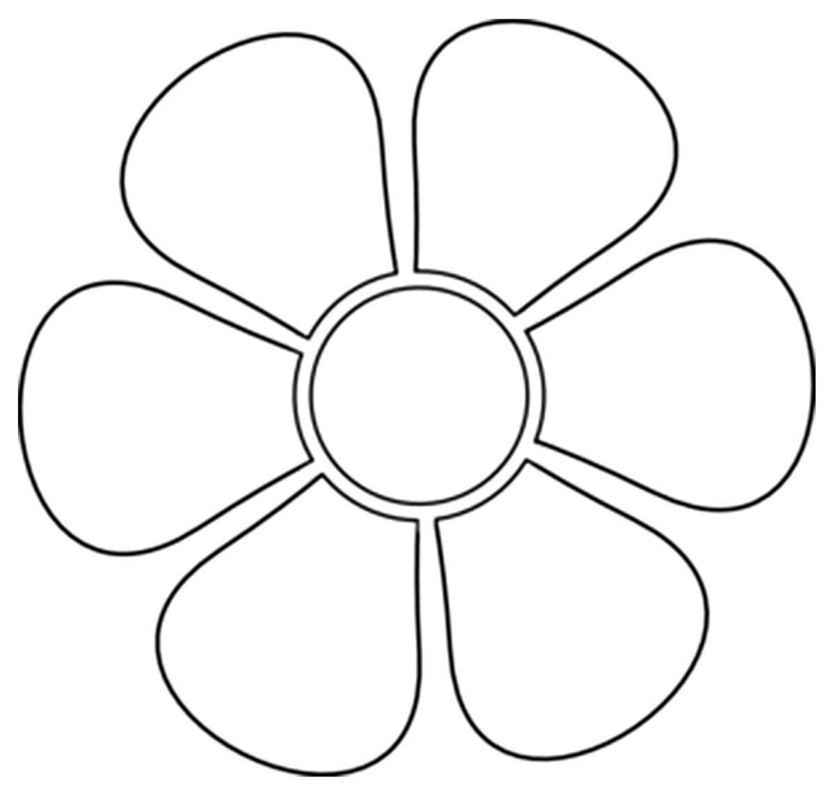 Molde fácil de flor