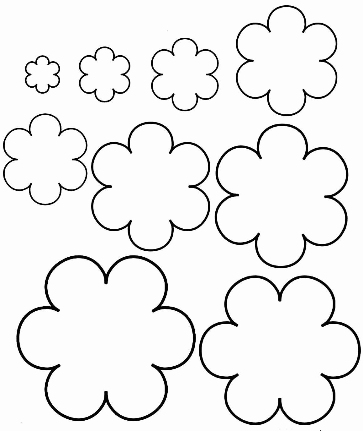 Moldes de flor de papel