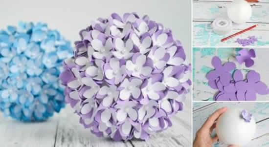 Flores lindas de papel para decoração de festa