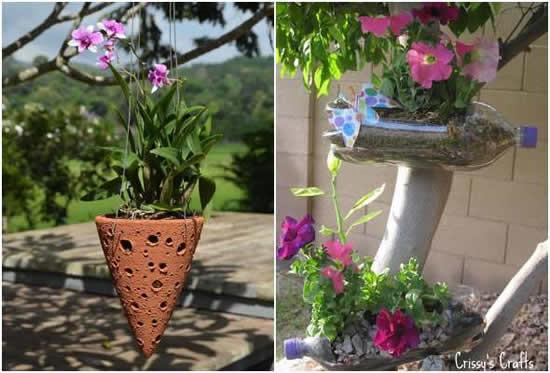 Jardinagem com vasos